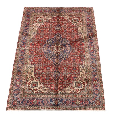 6'6 x 9'6 Hand-Knotted Persian Bijar Wool Area Rug