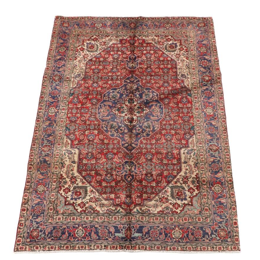 6'6 x 9'6 Hand-Knotted Persian Bijar Wool Area Rug