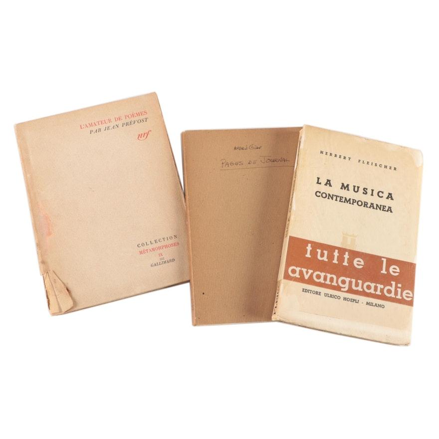"Signed ""La musica contemporanea"" by Herbert Fleischer and More"
