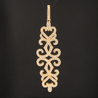Sterling Cubic Zirconia Pendant