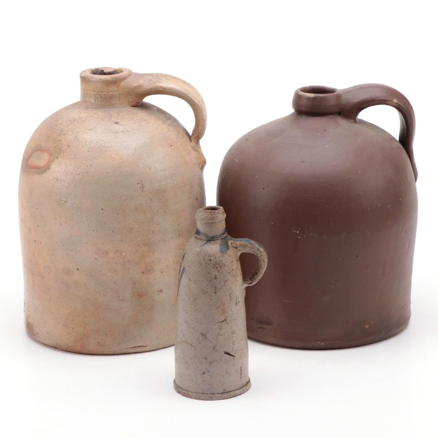 Stoneware Jugs, Early to Mid 20th Century