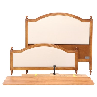 "Ballard Designs ""Anna Marie"" Mahogany Upholstered Queen Size Bed"