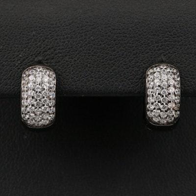 Sterling Cubic Zirconia Huggie Earrings