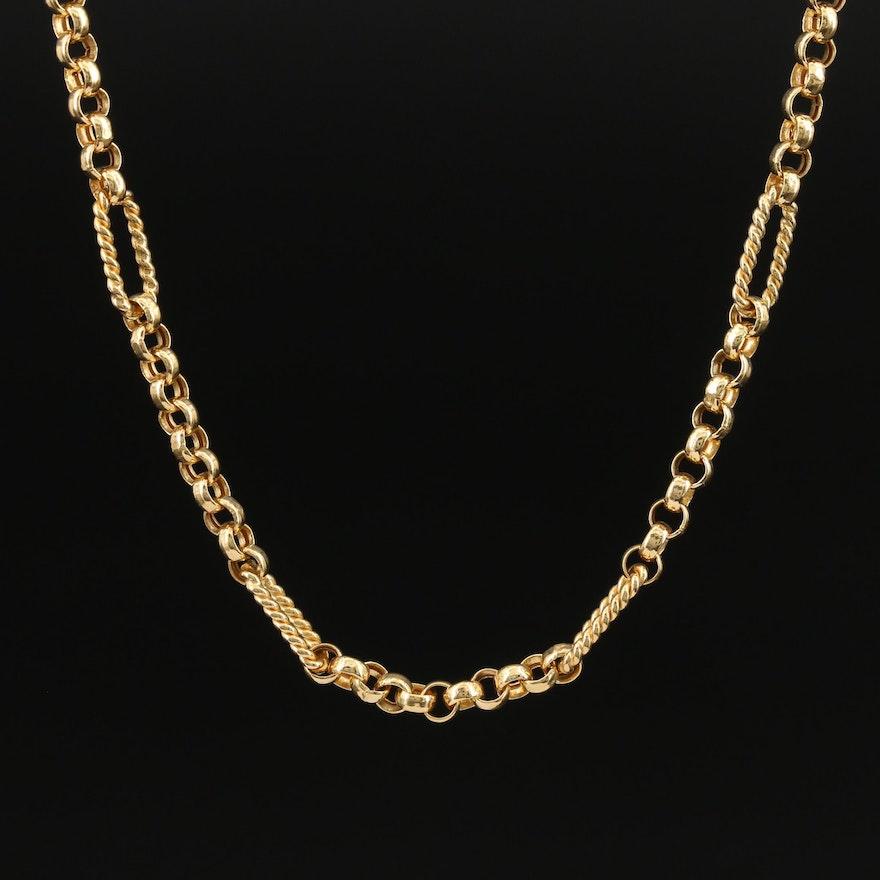 14K Fancy Link Chain Necklace