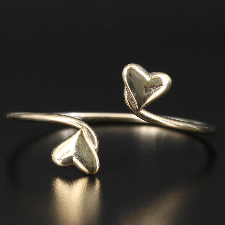 Sterling Silver Heart Cuff Bracelet