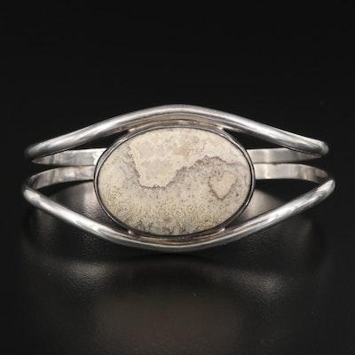 Sterling Silver Agate Cuff