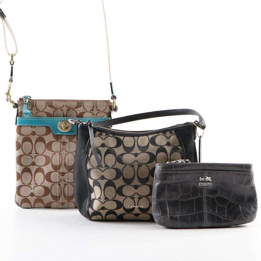 Coach Signature Crossbody Bags and Madison Wristlet