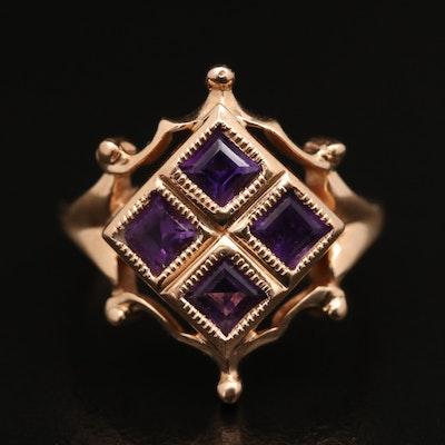 14K Amethyst Ring
