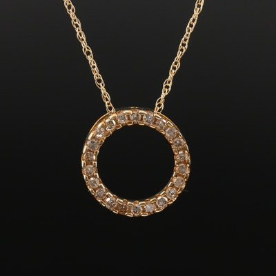 10K Diamond Concentric Necklace