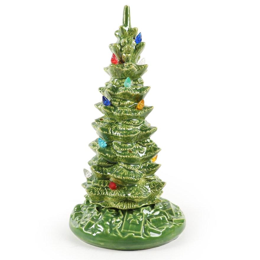 Byron Mold Illuminated Ceramic Christmas Tree, 1970s