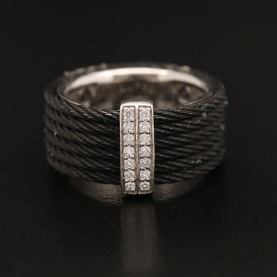 Alor 18K Diamond Ring Wrapped in Stainless Steel