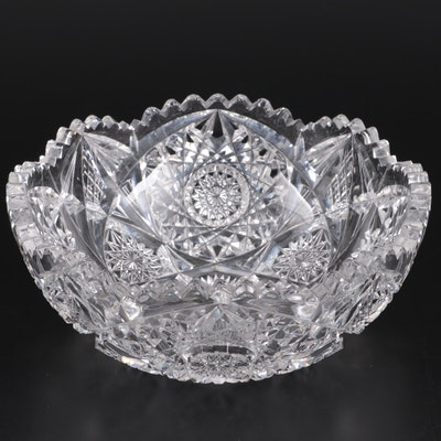 Cut Crystal Bowl, 20th Century
