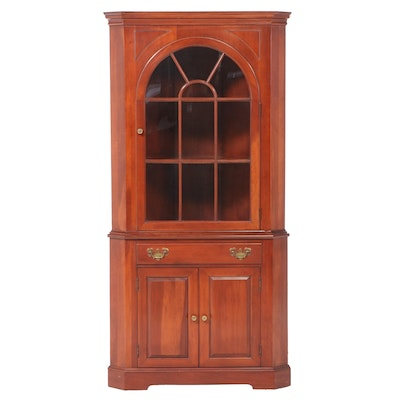 Willett Chippendale Style Cherry Corner Cupboard, Late 20th Century