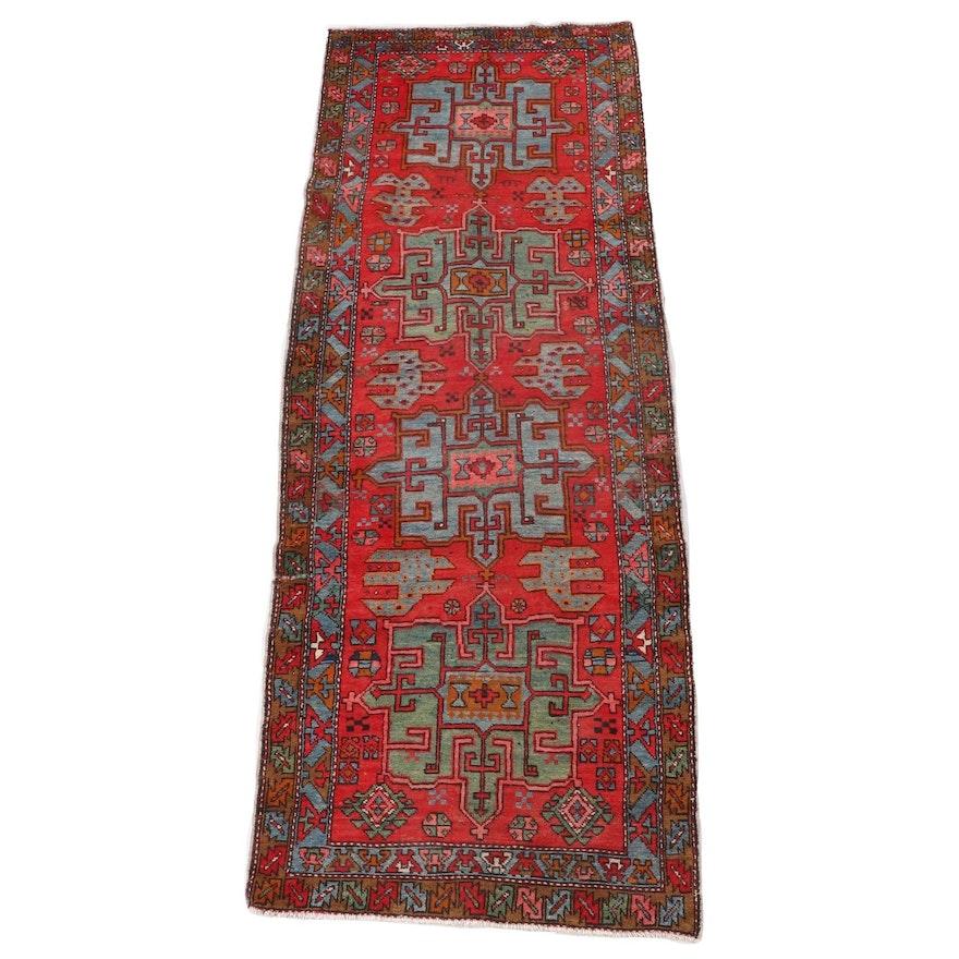 3'6 x 10'4 Hand-Knotted Persian Karaja Wool Long Rug