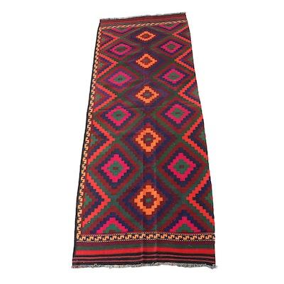 4'11 x 14'4 Handwoven Afghan Kilim Wool Rug