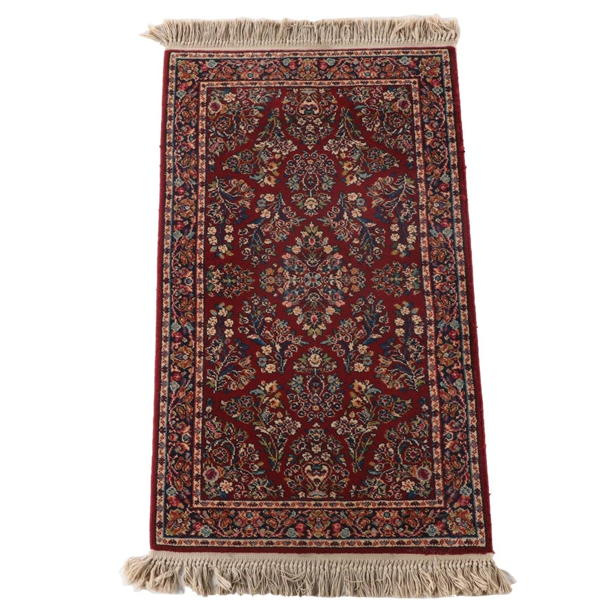 "2'11 x 5'9 Machine Made Karastan ""Red Sarouk"" Wool Area Rug"