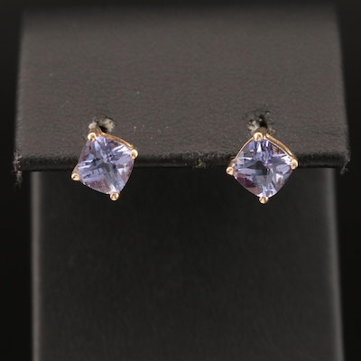 14K Color Change Sapphire Earrings