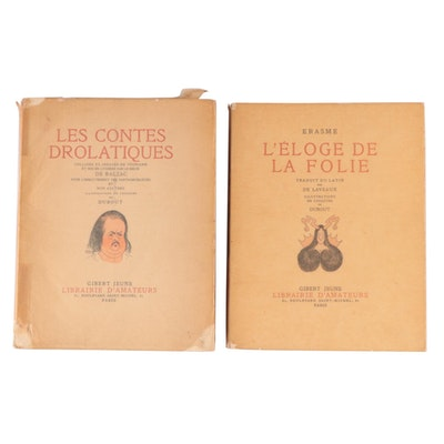 "Limited Edition ""L'éloge de la folie"" and ""Les Contes drolatiques"""