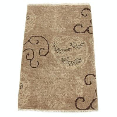 2' x 3'3 Hand-Knotted Indo-Turkish Rug
