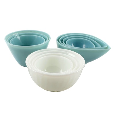 "Anchor Hocking Fire King ""Swedish Modern"" and More Mixing Bowls"
