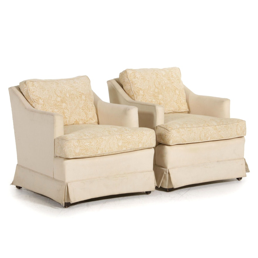 Pair of Upholstered Armchairs, Late 20th Century