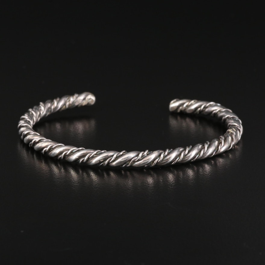 Sterling Silver Twisted Cable Cuff