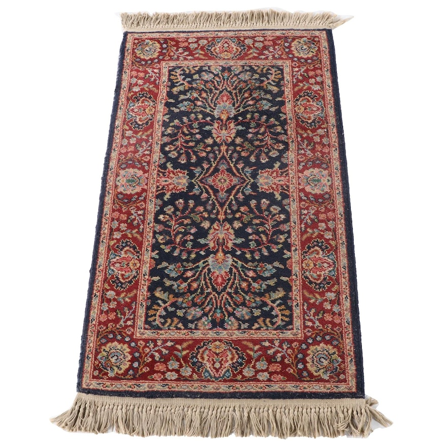 "2'6 x 5'0 Machine Made Karastan ""Navy Sarouk"" Wool Area Rug"