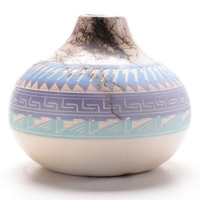Vail Sr. Horsehair Ceramic Vase