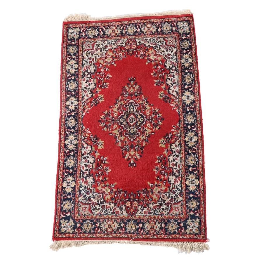 3'0 x 5'8 Hand-Knotted Persian Kashan Wool Area Rug