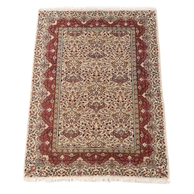 4'0 x 6'0 Hand-Knotted Indo-Persian Malayer Wool Area Rug