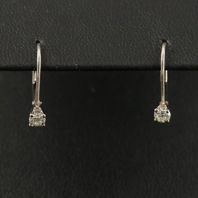 14K Diamond Drop Earrings