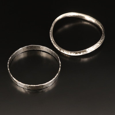 Sterling Hammered Bangles