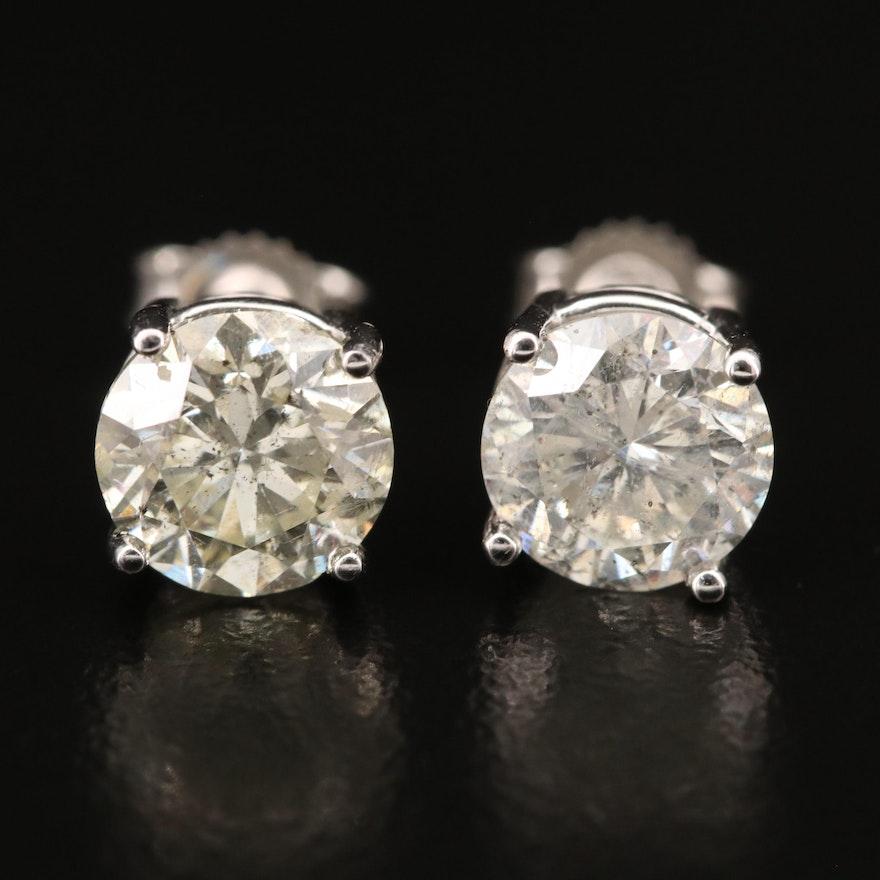 14K 3.26 CTW Diamond Stud Earrings