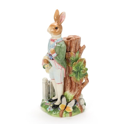 "Fitz and Floyd ""Old World Rabbits"" Figurine Candlestick, 1999–2003"