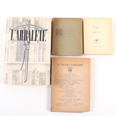 Rare and Limited Editions of French Poetry Books, Including T. S. Eliot