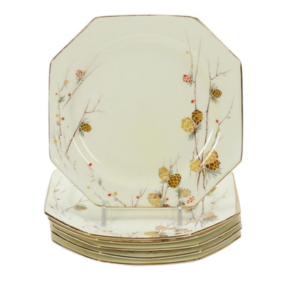 Paragon Octagonal Bone China Plates, Mid to Late 20th Century