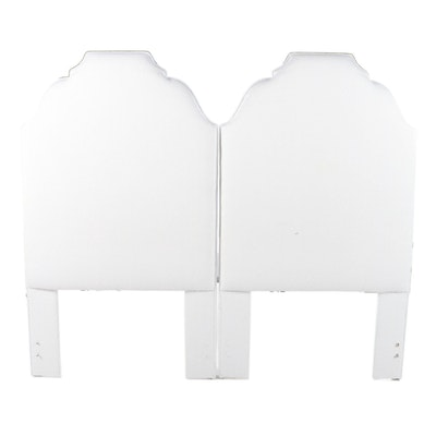 Pair of Cox Manufacturing Upholstered Twin Size Headboards