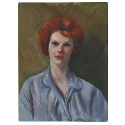 Portrait Oil Painting, Late 20th Century