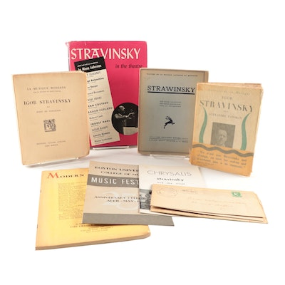 Collection of Books and Ephemera on Igor Stravinsky