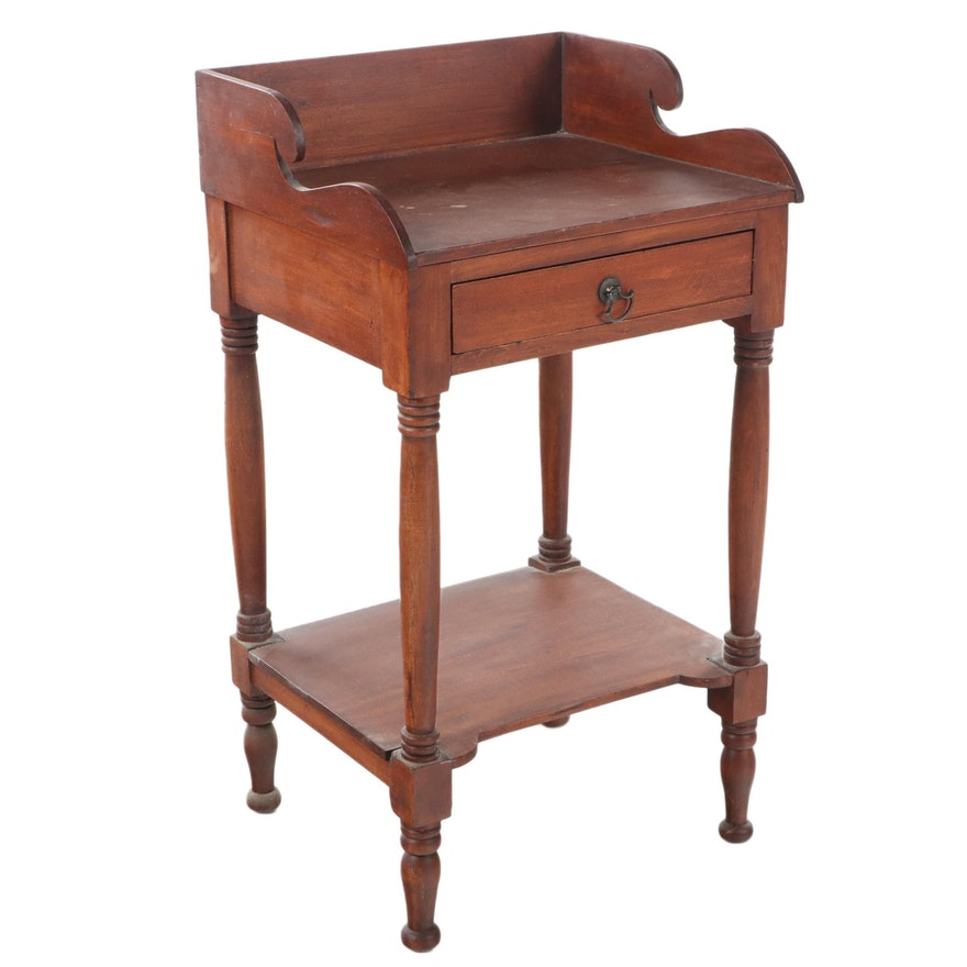 American Classical Cherrywood Washstand, Second Quarter 19th Century