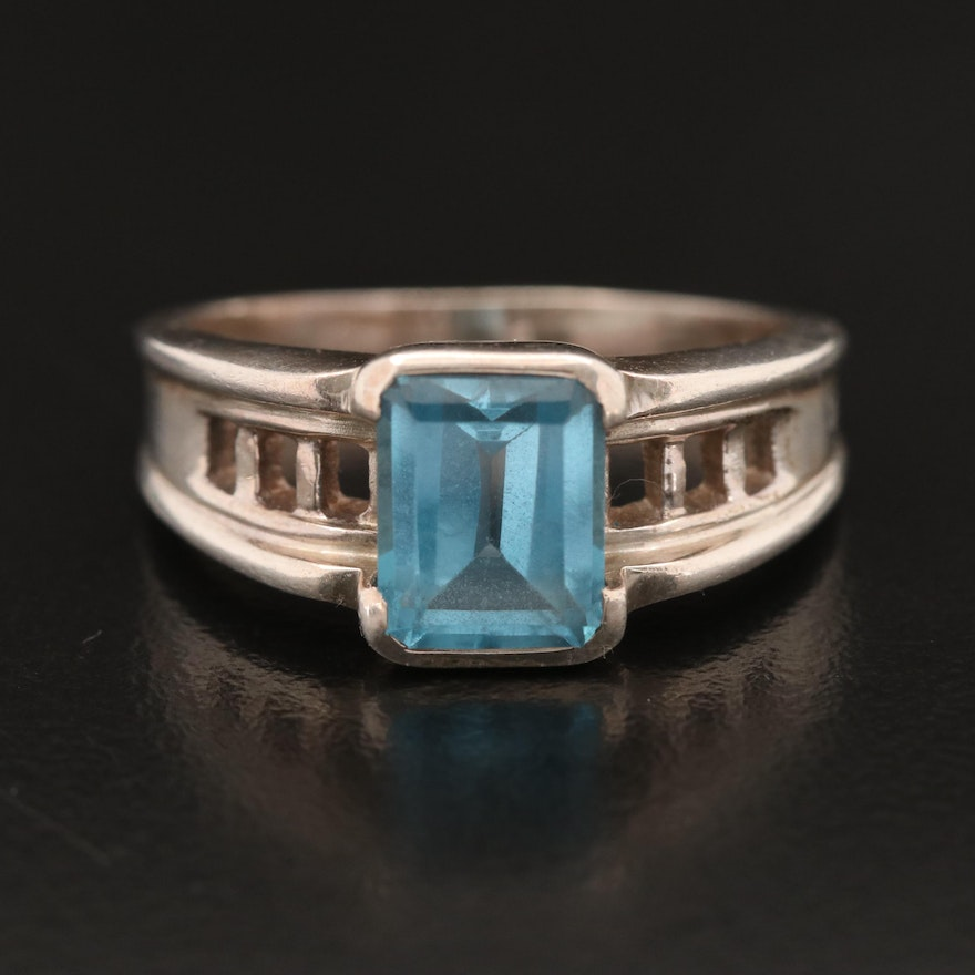 Arya Sterling Topaz Solitaire Ring