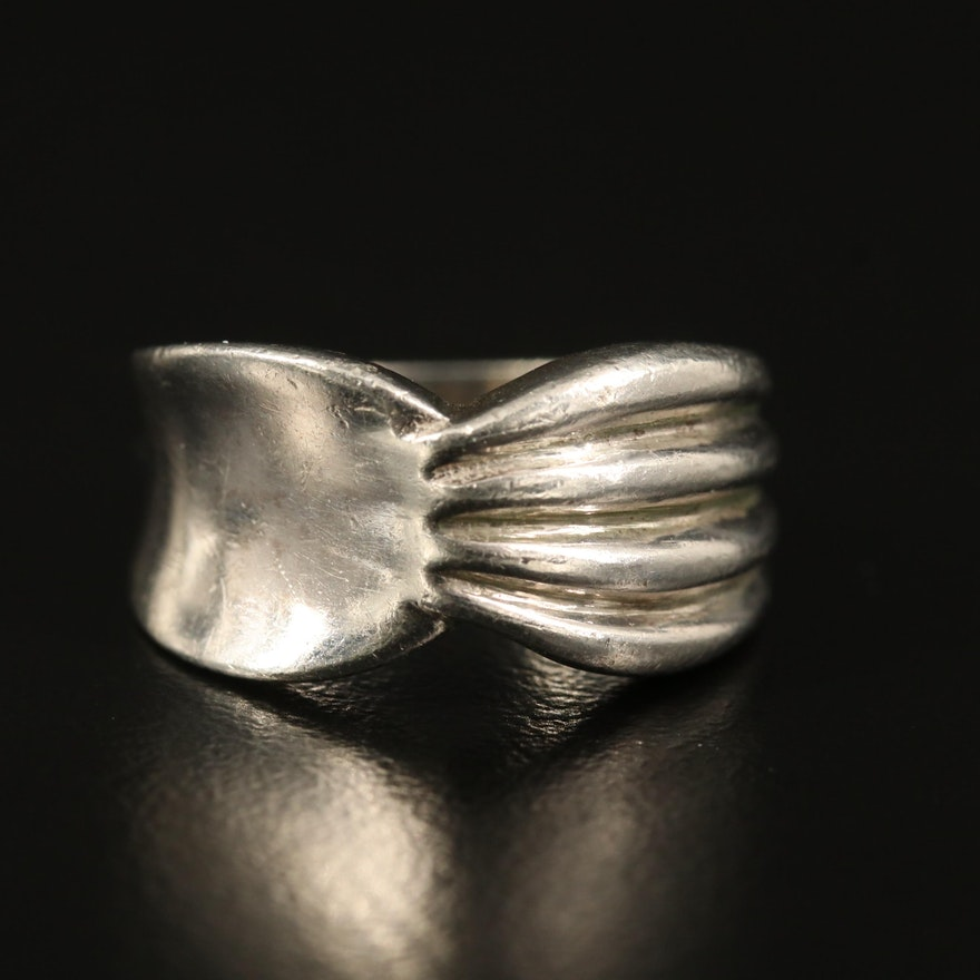 Sterling Fluted Ring