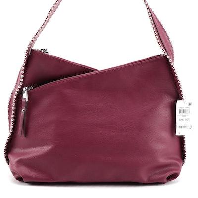 INC International Concepts Vailee Studded Vegan Leather Hobo Bag