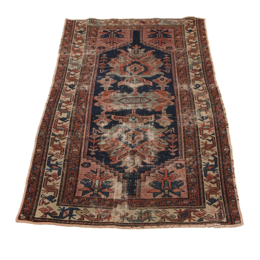 2'11 x 4'9 Hand-Knotted Persian Malayer Accent Rug, 1920s