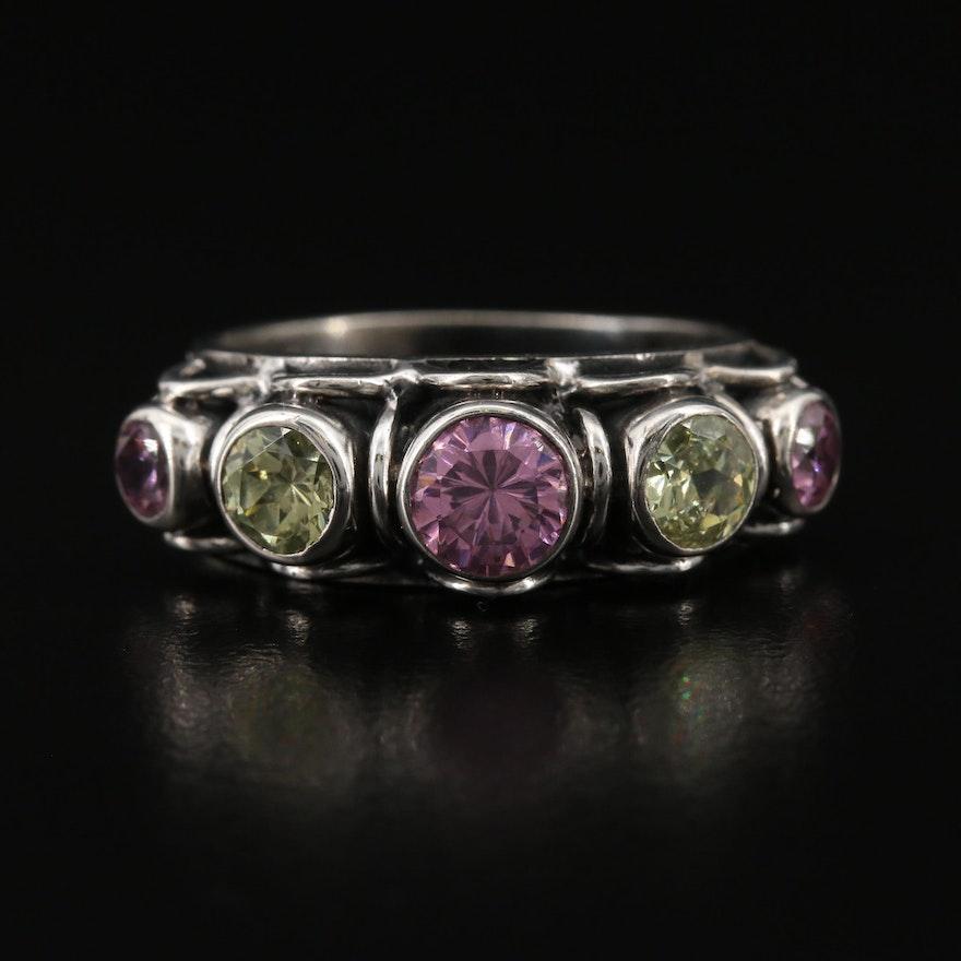 KumKum Sterling Cubic Zirconia Ring