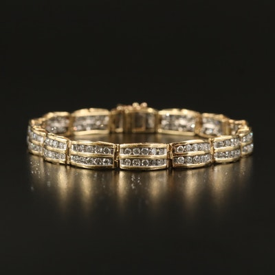 10K 4.90 CTW Diamond Double Row Bracelet