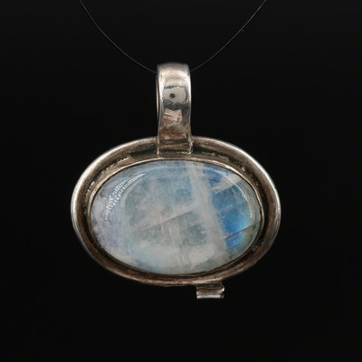 900 Silver Labradorite Pendant