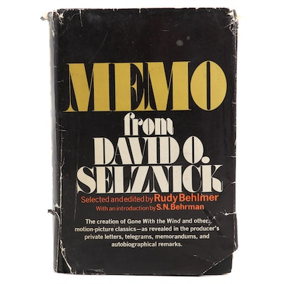 """""""Memo from David O. Selznick"""" Selected and Edited by Rudy Behlmer, 1972"""
