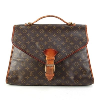 Louis Vuitton Beverly Business Bag in Monogram Canvas and Leather