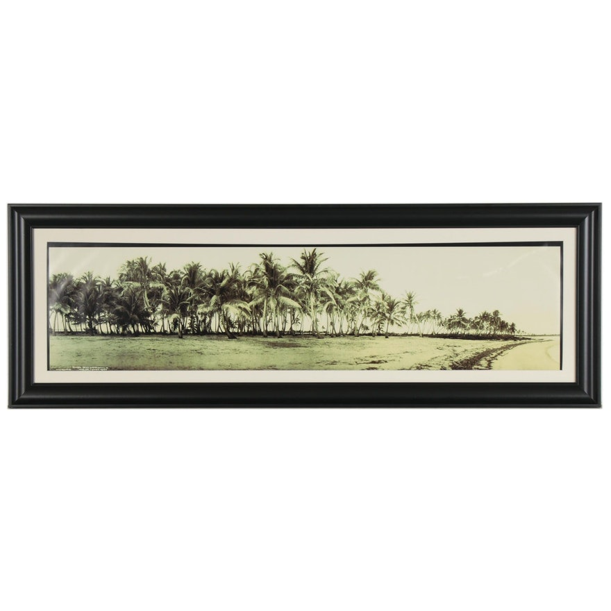 Giclée after L.P. Schutt of Florida East Coast Shore
